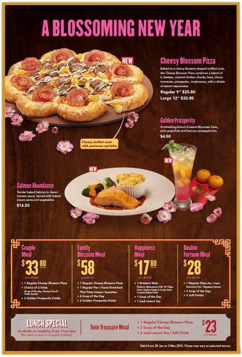 new year food abundance dine in cheesy blossom pizza salmon abundance