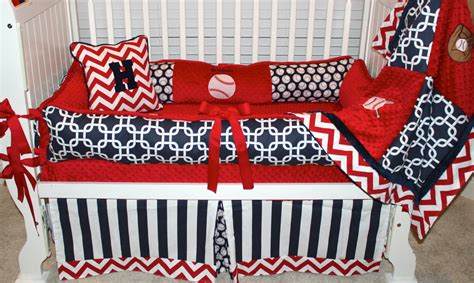 Baseball Nursery Bedding Sets Boys Custom Baby Bedding 6 Pc Set Baseball Set