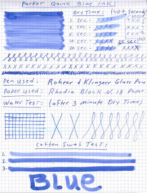 blue reviews quink blue ink review pen chalet
