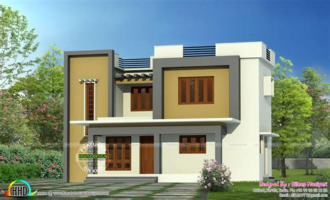 simple roof designs simple flat roof home architecture kerala home design