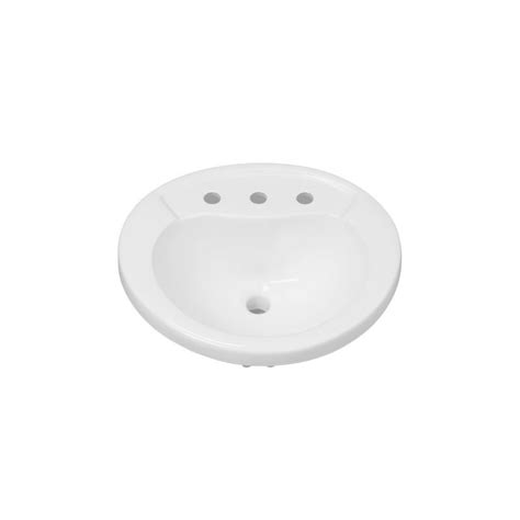 mirabelle sinks mirabelle mirpr458wh white provincetown 21 5 8 quot porcelain drop in bathroom sink with overflow