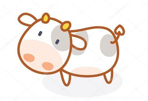 imagenes de vacas kawaii vaca cute dibujos animados posando vector de stock