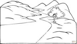 simple nature coloring pages simple landscape coloring pages