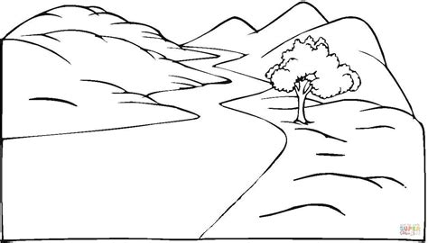 Coloring Page Road by Landscape And The Winding Road Coloring Page Free