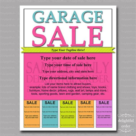 sale poster template free 20 yard sale flyer templates psd eps format