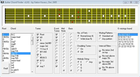 Chord Lookup Chord Finder For Guitar