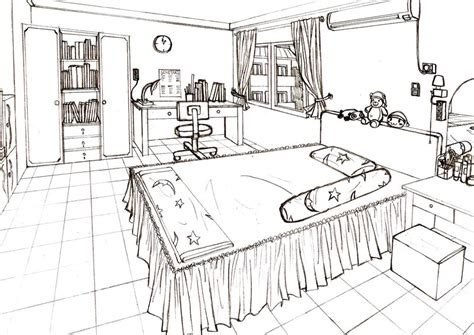 bedroom drawing one point perspective bedroom www imgkid the image kid has it