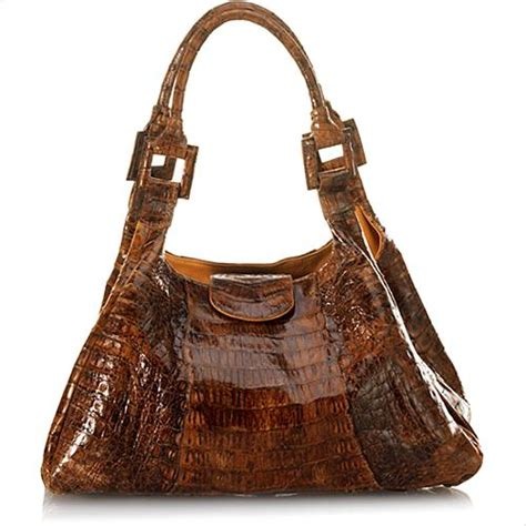 The W Carlos Falchi How To Get A Free Purse by Carlos Falchi Shiny Moroccan Caiman Crocodile East West Tote