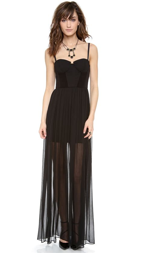 Shakira Maxy lyst shakira bustier maxi dress in black