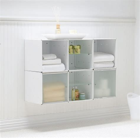 Storage Units For Bathrooms Wall Mounted Bathroom Storage Apartment Therapy