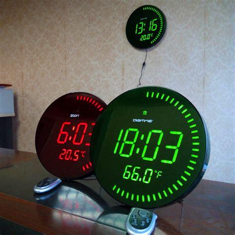 design home decor wall clock 3d creative circular large led digital wall clock modern