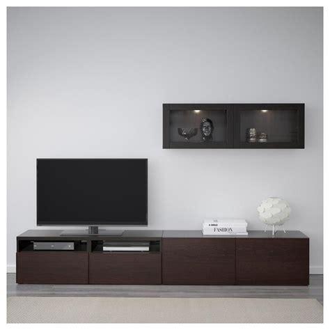 besta tv platte besto tv schrank kombiniert glast 252 ren schwarz und