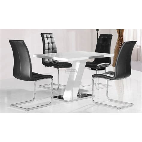aliyah high gloss dining table in white furniture mill outlet