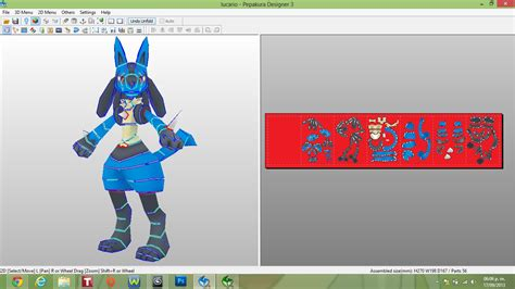 Lucario Papercraft - lucario papercraft finished by javierini on deviantart
