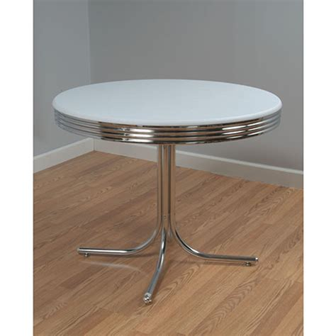 retro dining table white and chrome walmart