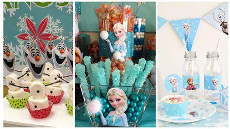 fiestas infantiles un cumplea 241 os de la sirenita pequeocio manualidades para decorar una frozen fiestas y parttis
