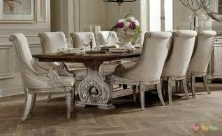 White Washed Dining Room Furniture by Orleans Ii White Wash Traditional Formal Dining Room