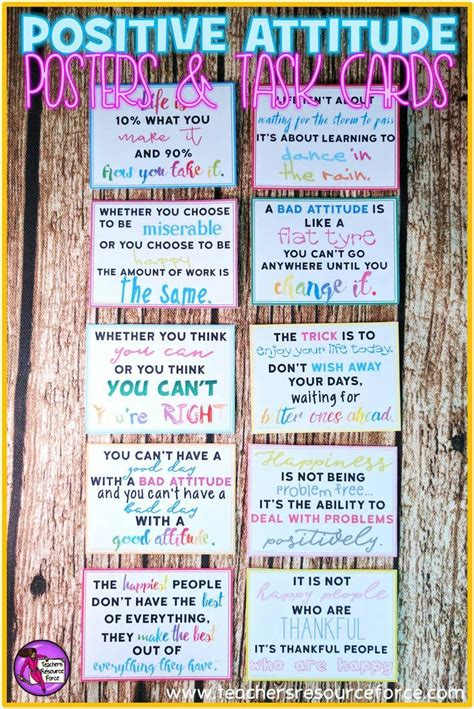 task cards template for affirmations 25 best ideas about positive attitude on