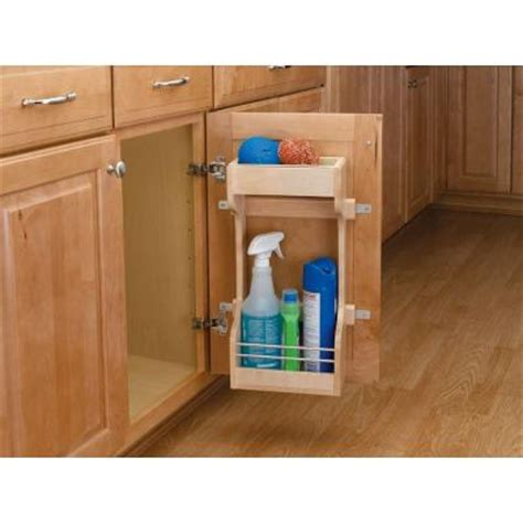 Kitchen Cabinet Door Organizer Rev A Shelf 19 In H X 17 In W X 5 In D 2 Shelf Large Cabinet Door Mount Wood Storage