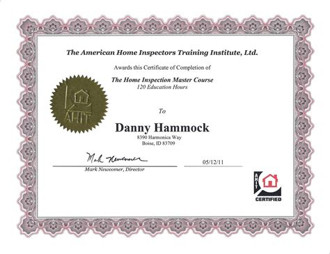 Certified Home Inspections   Awards and Affiliations