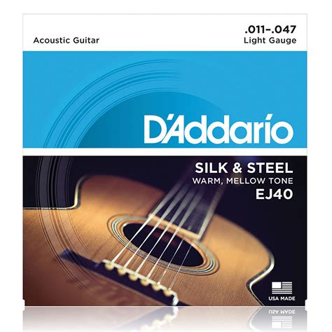 String Guitar Acoustic Daddario Unpacking 011 d addario ej40 011 047 171 western resonator