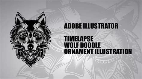 illustrator tutorial wolf adobe illustrator tutorial wolf doodle ornament