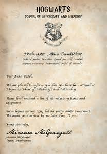 Harry Potter Acceptance Letter Buy Acceptance Letter Book Club Bashes