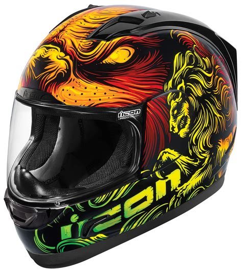 motorcycle helmets and gear icon alliance majesty helmet xs and sm only revzilla