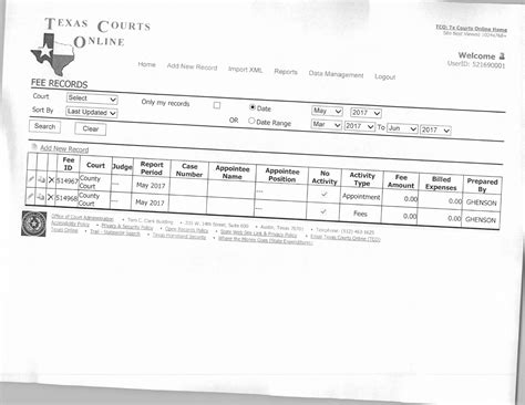 Montague County Court Records May