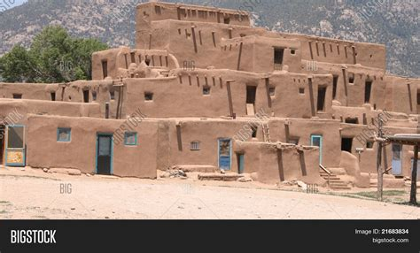 pueblo adobe houses adobe pueblo housing image photo bigstock
