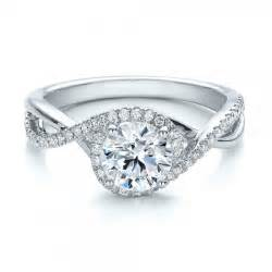 halo wedding rings contemporary halo and split shank engagement ring