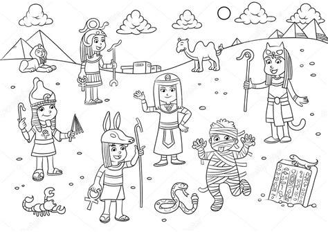 imagenes egipcias dibujos ilustraci 243 n de dibujos animados de ni 241 o de egipto para