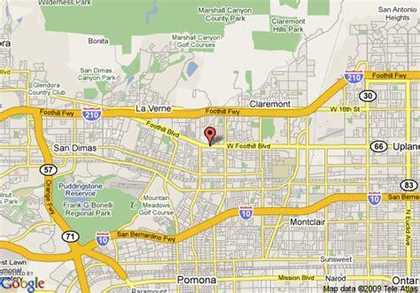 california map pomona map of rodeway inn and suites pomona pomona