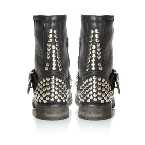 studded boots for steve madden studded low boots in black for lyst