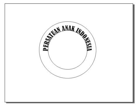 membuat logo lingkaran membuat tulisan melingkari lingkaran dengan corel draw12