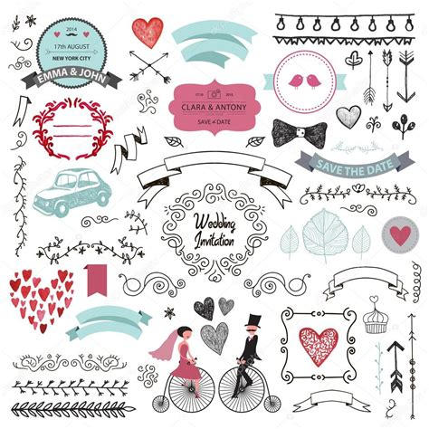 Wedding Invitation Design Elements by Vintage Wedding Design Elements Stock Vector 169 Marylia