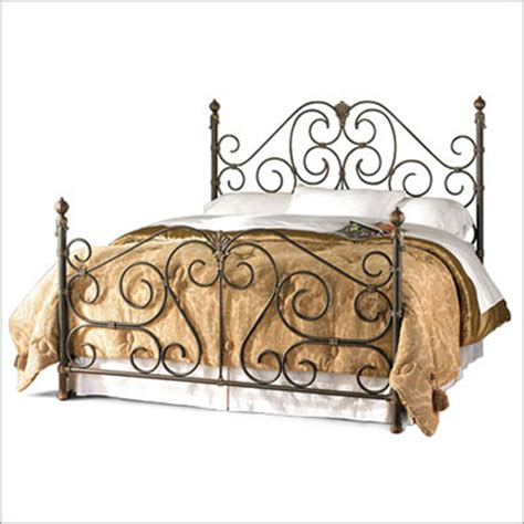 rod iron bed frame wrought iron beds