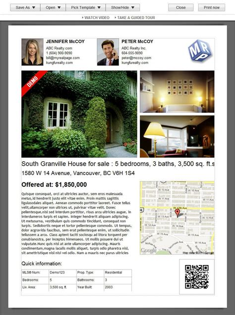 28 real estate listing sheet template it property joomla