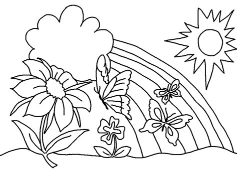 coloring pages spring free printable flower coloring pages for kids best