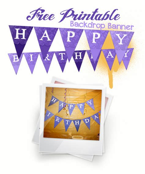 free printable birthday banner purple diy cake bunting and glittered candle jars free