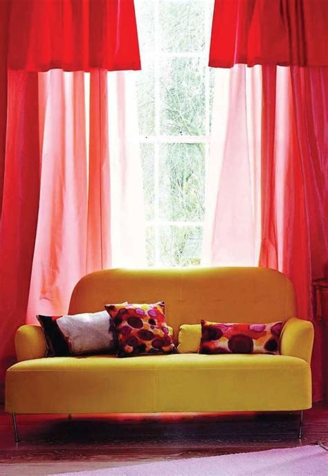 bright curtains 112 best images about red themed living rooms on pinterest