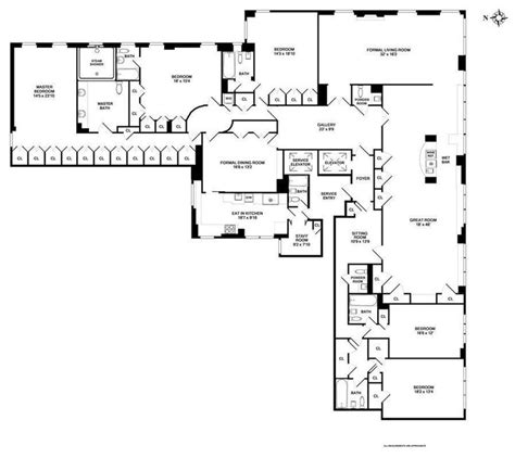 manhattan apartment floor plans 910 fifth ave 8cd in upper east side manhattan