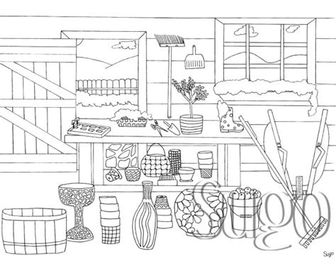 garden shed coloring page garden shed coloring page from sugoink on etsy studio