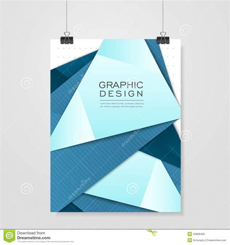 poster design layout download modern origami style design for poster template stock