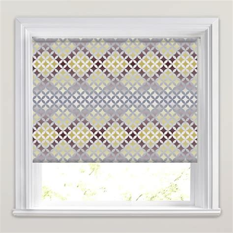 retro patterned roller blind brown gold silver white retro diamond patterned roller