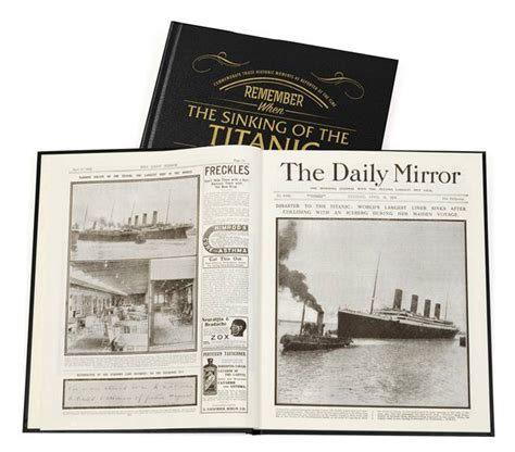 Personalised Newspaper Gift titanic personalised newspaper book personalised gifts