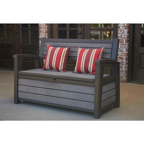 keter wlf  gal outdoor garden patio deck box storage