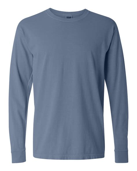 comfort colors apparel comfort colors 6 1 ounce ringspun cotton long sleeve t