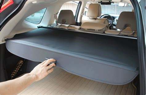 Karpet All New Crv By Oz Garage black rear cargo cover trunk shade security shield for