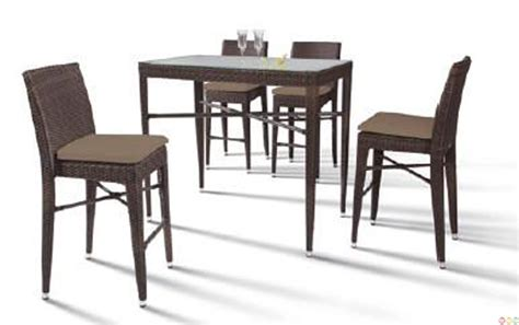 Bar Height Rectangular Patio Table by Vig Renava Ht25 Maxi Rectangular Patio Bar Table Set